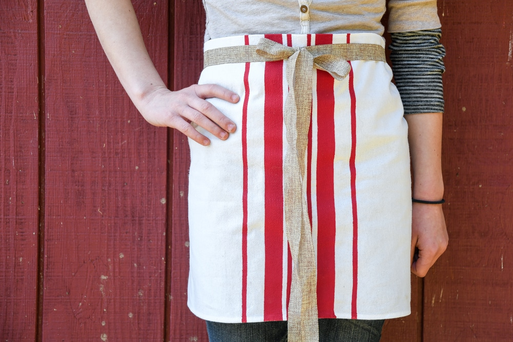 33641f6846f DIY French Bistro Apron Tutorial (No Sewing Required) - Reformation ...