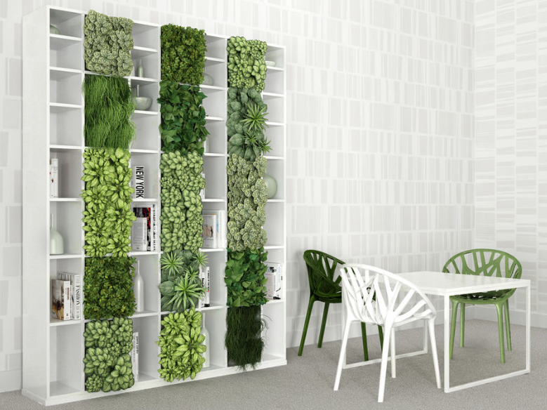 bookshelf indoor herb garden