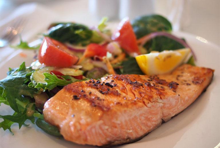 Almond Salsa Salmon