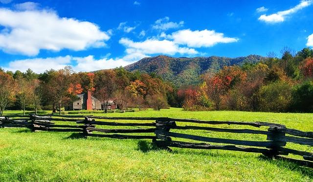 fenced homestead land