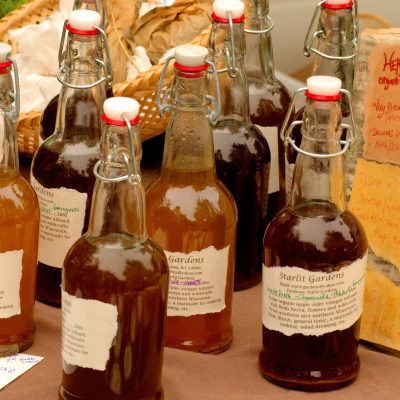 Bottles of apple cider vinegar, but does apple cider vinegar go bad?